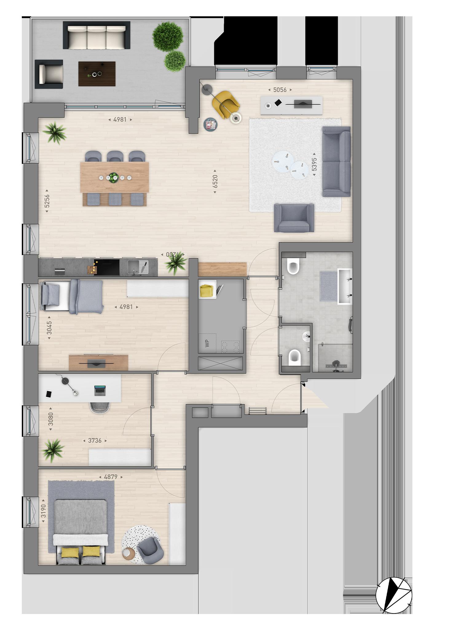 Plattegrond-appartement-type-G